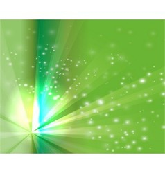 Abstract rays burst light on green background vector