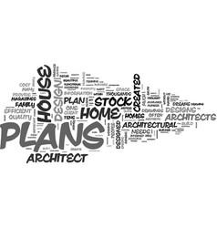 Architect designed house plans vs stock house vector