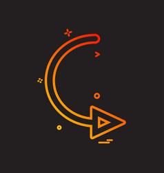 arrow circle right turn icon design vector image