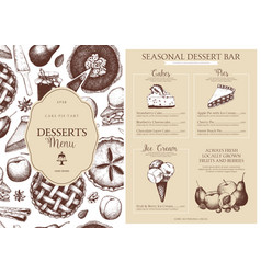 Baking menu design template vector