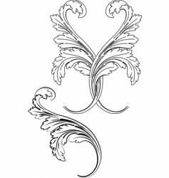Baroque patterns vector