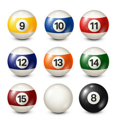 billiardpool balls collection snooker white vector image