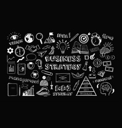 Business strategy set vector