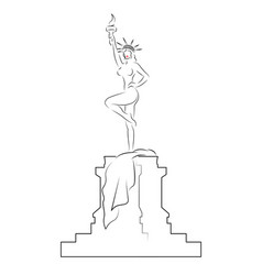 caricature sexy woman as statue liberty vector image
