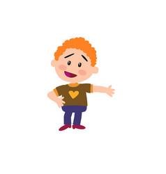 Cartoon character boy showing vector