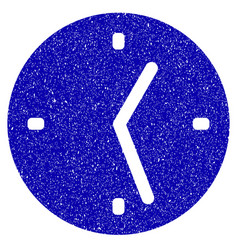 clock icon grunge watermark vector image