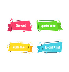 color modern banner set special offer sale vector image