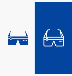 Computer computing digital glasses google line vector