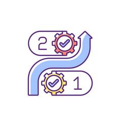 Consistency rgb color icon vector