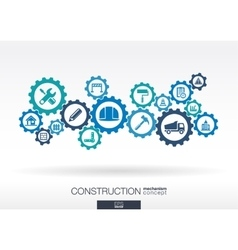 Construction mechanism Abstract background with vector