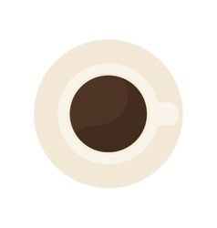 cup or mug topview icon image vector image