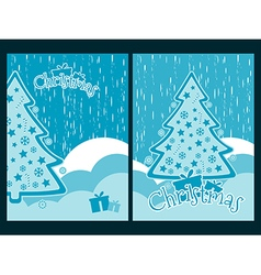 Decorated Christmas tree New Years celebration vector