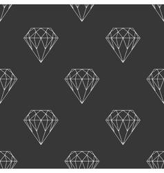 Diamond dark seamless pattern vector image
