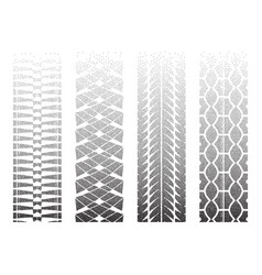 Dotted tire tracks 5 vector