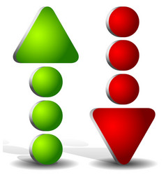 Dotted up and down arrow vector