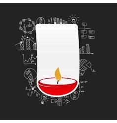 Drawing business formulas lamp vector