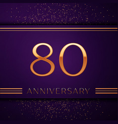 Eighty years anniversary celebration design banner vector