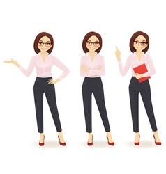 Elegant business woman vector image