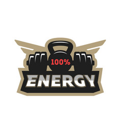 Energy sport logo vector