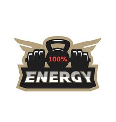 energy sport logo vector image vector image