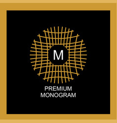 Exquisite template for creating a monogram emblem vector
