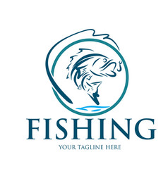 fishing logo designs vector image