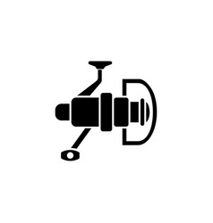 fishing reel tackle flat icon vector image