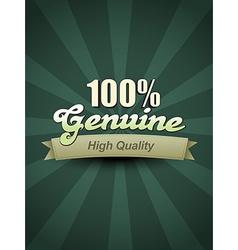 genuine label vector image