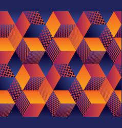 geometric hexagon bright seamless motif vector image