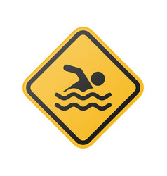 glossy swimming sign vector image