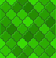 Green turkish mosque seamless tile pattern vector