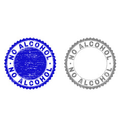 grunge no alcohol scratched stamp seals vector image