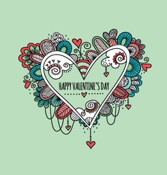 Happy Valentines Day Hand Drawn Doodle vector