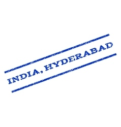 India Hyderabad Watermark Stamp vector