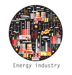 Industry background vector image