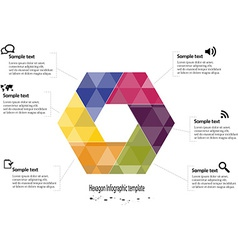 Infographic with hexagon motif vector
