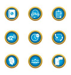 invoke icons set flat style vector image
