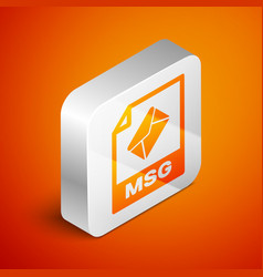 Isometric msg file document icon download msg vector