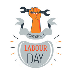 Labour day isolated icon first of may wrench in vector