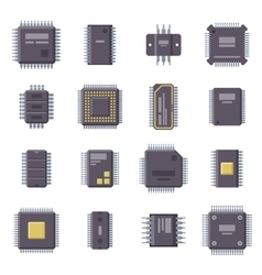 Micro chip isolated vector