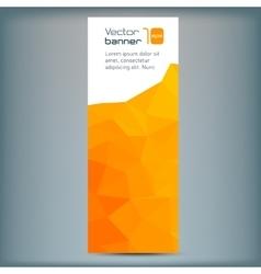 Modern banner with orange polygonal vector