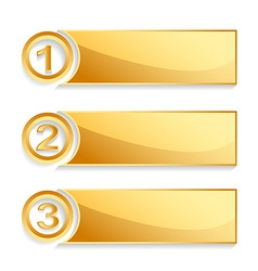 modern golden position banner set vector image