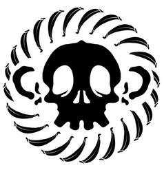 Monkey skull stencil vector