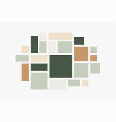 Mood board photo collage minimalist mockup vector
