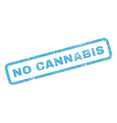 No Cannabis Rubber Stamp vector