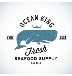 Ocean King Seafood Supplyer Vintage Logo vector
