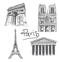 Parisian architecture vector image