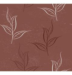 pattern of tea plants vector image
