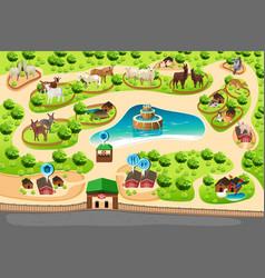 Petting zoo map vector