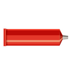 plastic tube icon cartoon style vector image